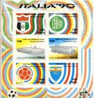 X 1990 BLOCCO FOGLIETTO ITALIA MONDIALI CALCIO 90  NUOVO - 6. 1946-.. Repubblica