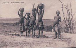 Zambèze, Enfants  Porteurs D'eau (7.3.15) - Zambia