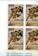 X 1981 ITALIA Coppa Del Mondo Di Atletica Leggera Quartina Nuova Tematica Sport - Atletica