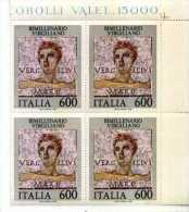 ITALIA QUARTINa - ANNO 1981 - BIMILLENARIO VIRGILIANO Tematica Mosaico Arte Angolo Di Foglio - Arte