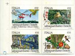 ITALIA.1984.SALVAGUARDIAMO I BOSCHI-SC. N.4.VAL.-NUOVI-V Tematica Natura Animali Flora Fauna Elicotteri - Protezione Dell'Ambiente & Clima