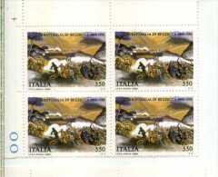 ITALIA 1986 - 120° BATTAGLIA DI BEZZECCA - Quartina Nuova Tematica Militaria - Militaria
