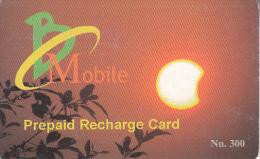 BHUTAN - Sunset, Bhutan Mobile Prepaid Card Nu.300, Used - Bhutan