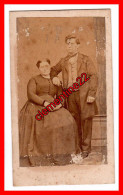 Cdv Couple   Photographie Dumesnil à Nantes - Old (before 1900)