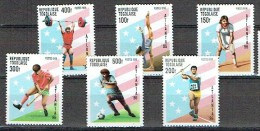 TOGO 1996, GYMNASTIQUE TENNIS JAVELOT HOCKEY HALTEROPHILIE FOOTBALL, 6 Valeurs, Neufs / Mint. R995 - Summer 1996: Atlanta