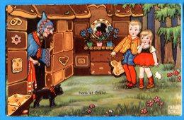 FR423, Hans Et Gretel, Conte De Grimm, 0347, Conte, Sorcière,chat Noir, Fantaisie, Circulée 1932 - Boriss, Margret