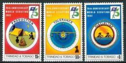 1982 Trinidad & Tobago Scout Scoutisme Set MNH** B498 - Trindad & Tobago (1962-...)