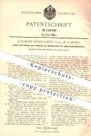 Original Patent - Automobil Werke Leipzig GmbH In Leipzig , 1902 , Vorrichtung Für Explosionskraftmaschinen , Motoren !! - KFZ