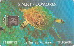 COMOROS ISL. - Marine Turtle, Chip SC5, Used - Comoren