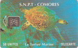 COMOROS ISL. - Marine Turtle, Chip SC5, Used - Komoren