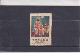 Reklamemarke - Tobler Swiss Milk Chocolate - Asia Indian Prince (307) - Publicidad