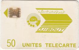 DJIBOUTI - Telecom Logo, First Issue 50 Units, CN : 11714, Used - Djibouti