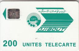 DJIBOUTI - Telecom Logo 200 Units, CN : 24378, Chip SC5, Used - Djibouti