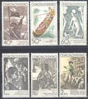 Czechoslovakia 1971 - Art. Illustration Graphic - Michel 1981-1986  MNH (**). - Checoslovaquia
