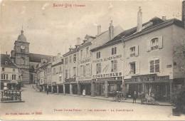 SAINT DIE - 88 - Place Jules Ferry - Les Arcades - La Cathédrale - Magasin Félix Potin Au 1er Plan - VAN - - Saint Die