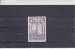 Reklamemarke - Gartenbau-Ausstellung Zürich 1912 (324) - Briefmarken