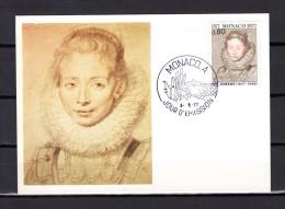"""MONACO 1977 : Carte Maximum N° YT 1098 """" PORTRAIT DE JEUNE FILLE De RUBENS """". Parfait état. CM - Rubens"""