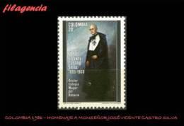 AMERICA. COLOMBIA MINT. 1986 HOMENAJE A MONSEÑOR JOSÉ VICENTE CASTRO SILVA - Colombia