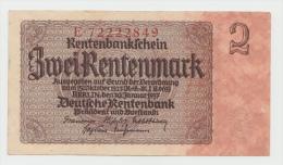 Germany 2 Rentenmark 1937 AUNC- CRISP Pick 174b 174 B - [ 4] 1933-1945: Derde Rijk