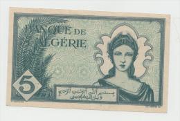 Algeria 5 Francs 16-11- 1942 VF++ CRISP Banknote Pick 91 - Algeria