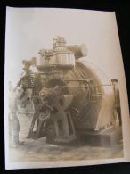 Photo 24 X 18 1923 Aux Ateliers Et Chantiers De La Gironde  Bordeaux Turbine Zoelly De L´ Aramis Atelier Mécanique NW43 - Bateaux