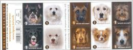 Belgium**DOG BREEDS-Chihuahua-Retriever-Terrier-Cocker-Collie-Booklet 10vals-2014-Bulldog-Maltese-Malinois-Jack Russell - Belgium