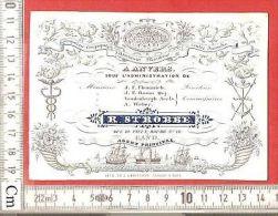 Porceleinkaart ANVERS R Strobbe Assurances Maritime Gand - Antwerpen Carte Litho Porcelaine DEFFERREZ Baron OSY, Weber - Cartes De Visite