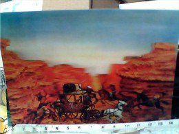 CARD 3 D EFFETTO TRIDIMENSIONALE STEREOSCOPICA  FAR WEST BONANZA ASSALTO DILIGENZA   VB1970  ET16463 - Cartoline Stereoscopiche