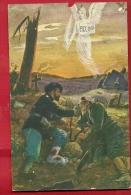 EXM-09 Ange De La Paix, Pax 1916, Blessés De Guerre. Non Circulé. Trou Bord Supérieur - Anges