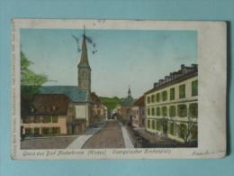 Gruss Aus BAD NIEDERBRONN ( ELSASS) - Evangelicher Kirchenplatz, Timbre Taxe - Autres Communes