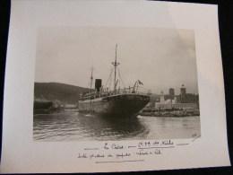 Photo 23 X 17cm En 1924 à La Ciotat Marseille SPC Navales Sortie Pour Essais Du Paquebot Leconte De Lisle    NW43 - Bateaux