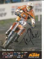 KTM RACING TEAM YVES DEMARIA   ( AUTOGRAPHE ) - Sports