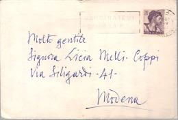 Michelangiolesca Lire 30 Su Busta Con Annullo Massa 26.06.1964 + Targhetta Vaccinatevi Contro La Polio - 6. 1946-.. República