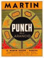 """03237 """"MARTIN - PUNCH ALL'ARANCIO """" ETICHETTA ORIGINALE - Etichette"""