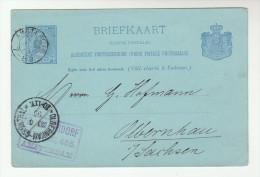 1895  NETHERLANDS Postal STATIONERY CARD Amsterdam To OLBERNHAU Germany Cover Stamps - Postal Stationery