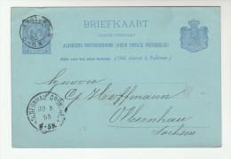 1895  NETHERLANDS Postal STATIONERY CARD Amsterdam 56N To OLBERNHAU Germany Cover Stamps - Postal Stationery