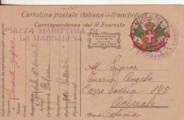 5-Franchigia Regio Esercito Guerra 1914-18-Piazza Marittima Di La Maddalena-17-6-17 X Acireale - Guerra 1914-18