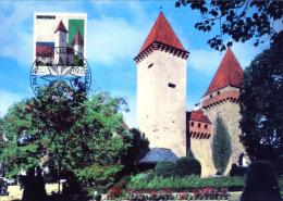 CARTE MAXIMUM - N° B265 - Château De La Sarraz (Pro Patria 1999 FD) - Maximumkaarten