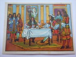Chromos Chocolaterie De La Suisse Normande N° 52 Louis XIV Invite Molière à Sa Table - Altri