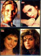 4 X Kino-Autogrammkarte  -  Repro, Signatur Aufgedruckt  -  Mathilda May  -  Kirstie Alley  -  Bo Derek - Autogramme