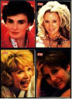 4 X Kino-Autogrammkarte  -  Repro, Signatur Aufgedruckt  -  Shirley Maclaine  -  Carrie Fisher  -  Sally Kirkland - Autogramme