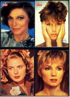 4 X Kino-Autogrammkarte  -  Repro, Signatur Aufgedruckt  -  Ingrid Bergmann  -  Anne Bancroft  -  Jamie Lee Curtis - Autogramme
