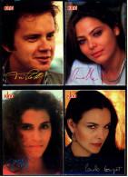4 X Kino-Autogrammkarte  -  Repro, Signatur Aufgedruckt  -  Ornella Muti  -  Tim Robbins  -  Jami Gertz - Autogramme