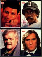 4 X Kino-Autogrammkarte  -  Repro, Signatur Aufgedruckt  -  Richard Pryor  -  Gerard Depardieu  -  Brian Dennehy - Autogramme