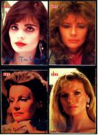 4 X Kino-Autogrammkarte  -  Repro, Signatur Aufgedruckt  -  Kim Basinger  -  Jacqueline Bisset  -  Greta Garbo - Autogramme