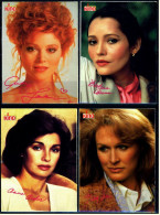 4 X Kino-Autogrammkarte  -  Repro, Signatur Aufgedruckt  -  Glenn Close  -  Anne Archer  -  Audrey Landers - Autogramme