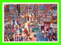 PEINTURE, MIYUKI TANOBE - RUE SAINTE-CATHERINE, MONTRÉAL En 1982 - ÉDITION DU SALUKI - DIMENSION 12.5 X 18cm - - Paintings