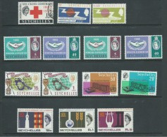 Seychelles 1963 - 1965 Common Issues Selection MLH ICY ITU WHO UNESCO Etc - Seychelles (...-1976)