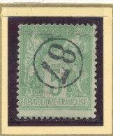 N°102 OBLITERATION JOUR DE L'AN. - 1898-1900 Sage (Type III)