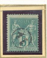 N°75 OBLITERATION JOUR DE L'AN. - 1876-1898 Sage (Type II)